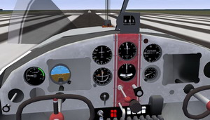 inside pc flight simulator game